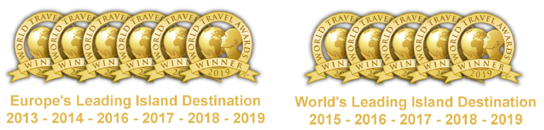 Europe's Leading Island Destination 2013, 2014, 2016, 2017, 2018, 2019